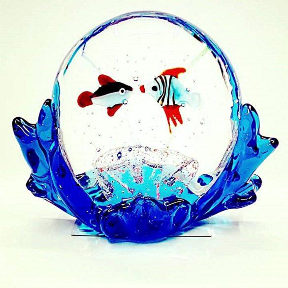 Acquario onde pesci in vetro di murano