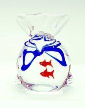 Acquario sacchetto in vetro di murano