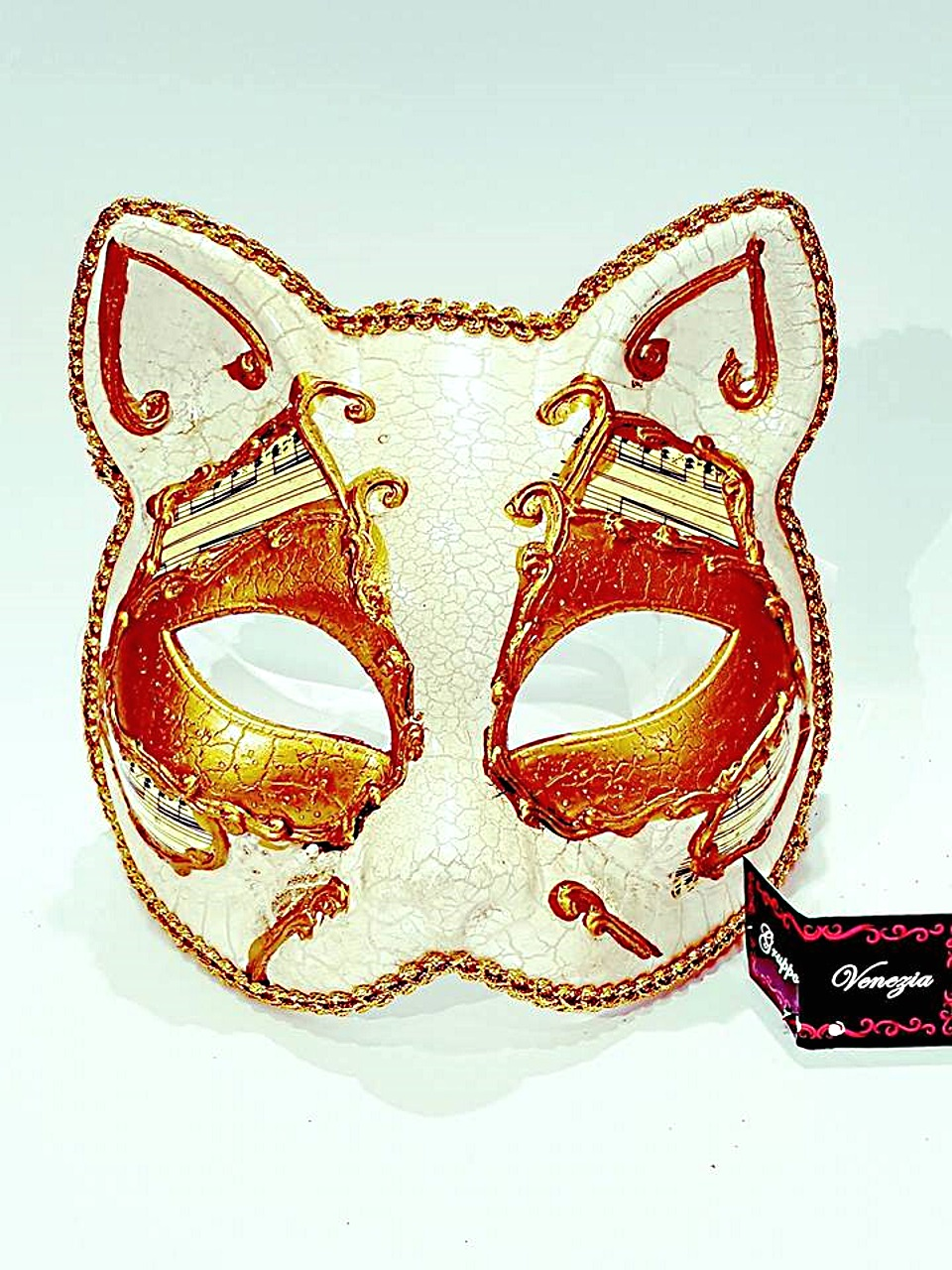 Maschera gatto cartapesta venturini souvenirs vetro di - Pagina colorazione maschera gatto ...