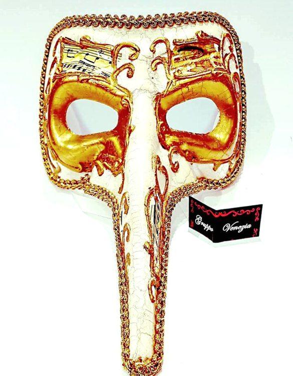 Maschera medico della peste in cartapesta