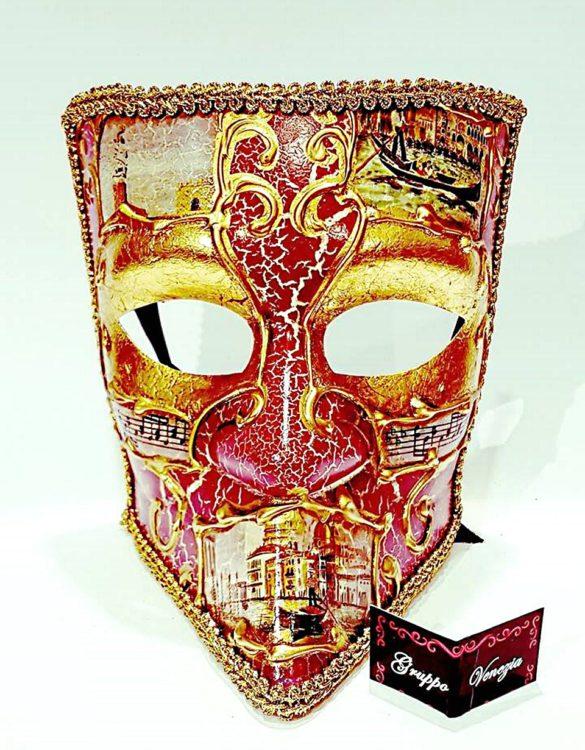 Maschera bauta di cartapesta