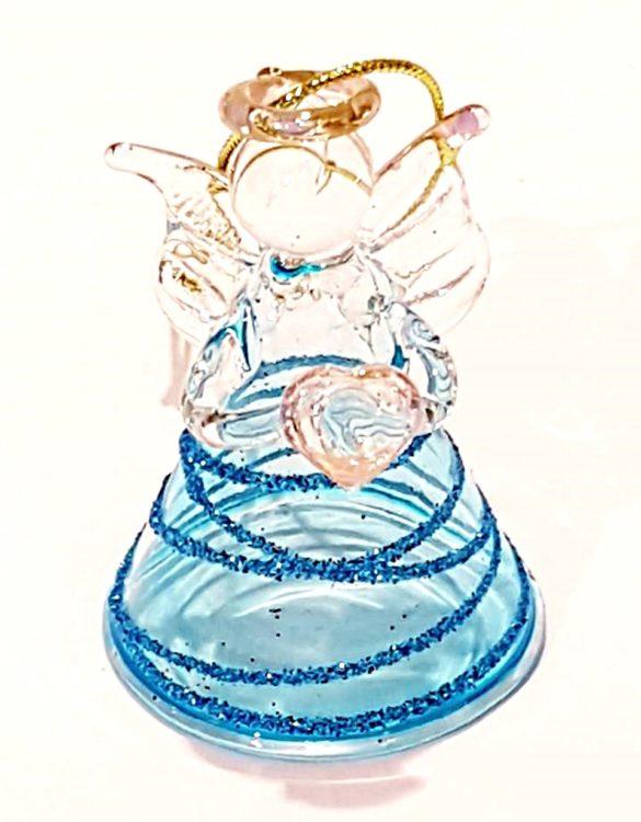 Angeli vetro con brillantini a righe