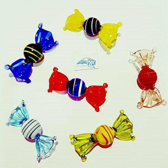 Caramelle rotonde grandi di vetro colori assortite