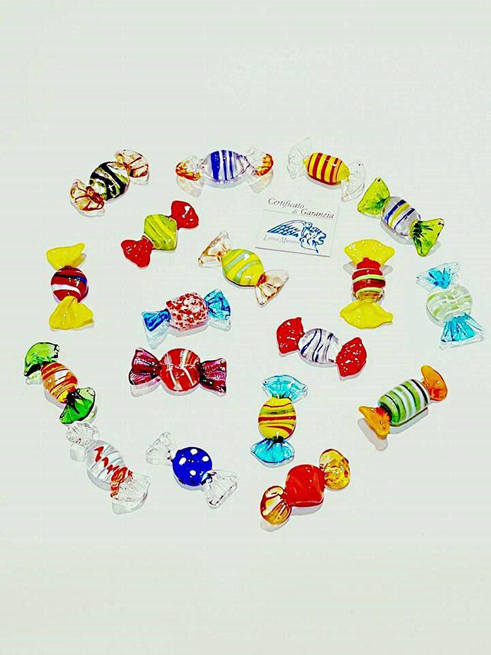 Caramelle di vetro mignon in colori assortiti