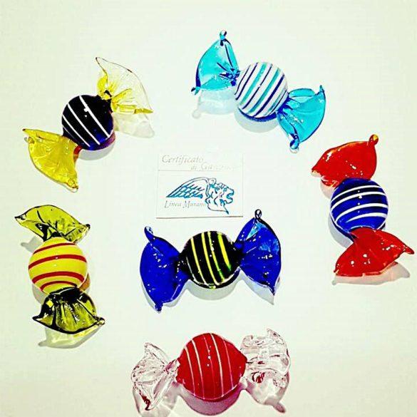 Caramelle rotonde di vetro in colori assortiti