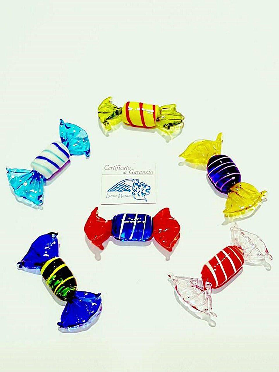 Caramelle a righe di vetro colori assortiti