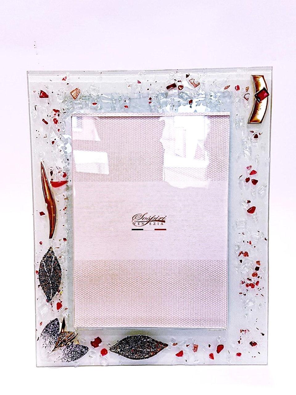 Portafoto azalea 19 x 15 cm vetro veneziano