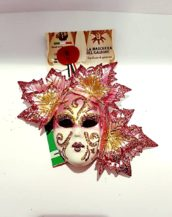 Maschera fico autunno cartapesta e ceramica