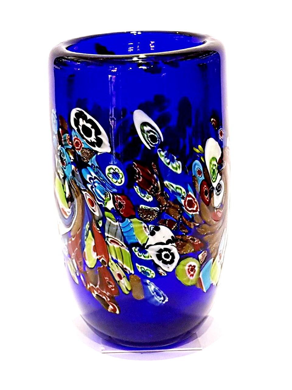 Vasetto blu murrina