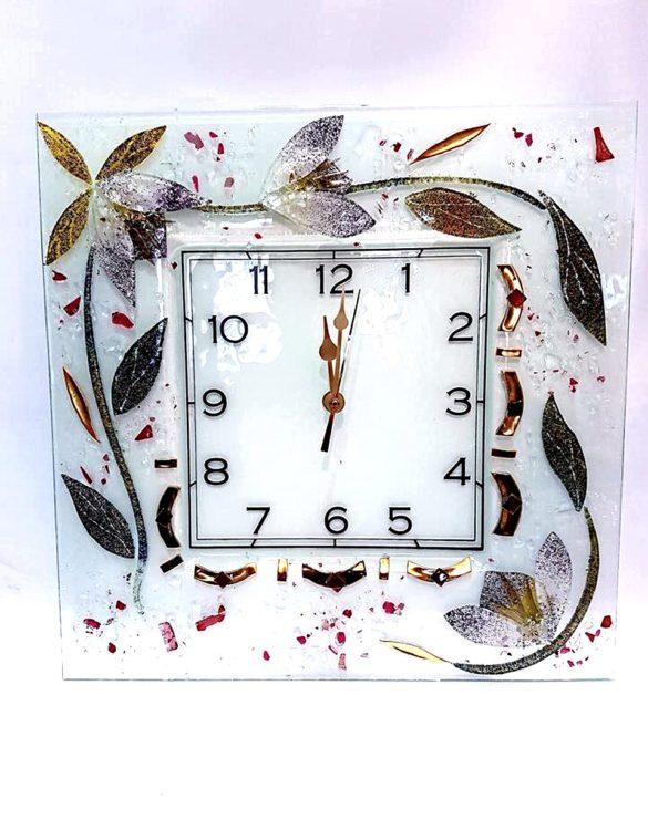 Orologio da parete azalea in Vetro di Murano