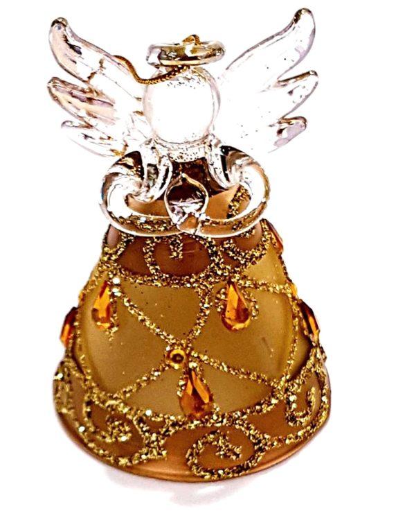 Angelo vetro a lume con campanella