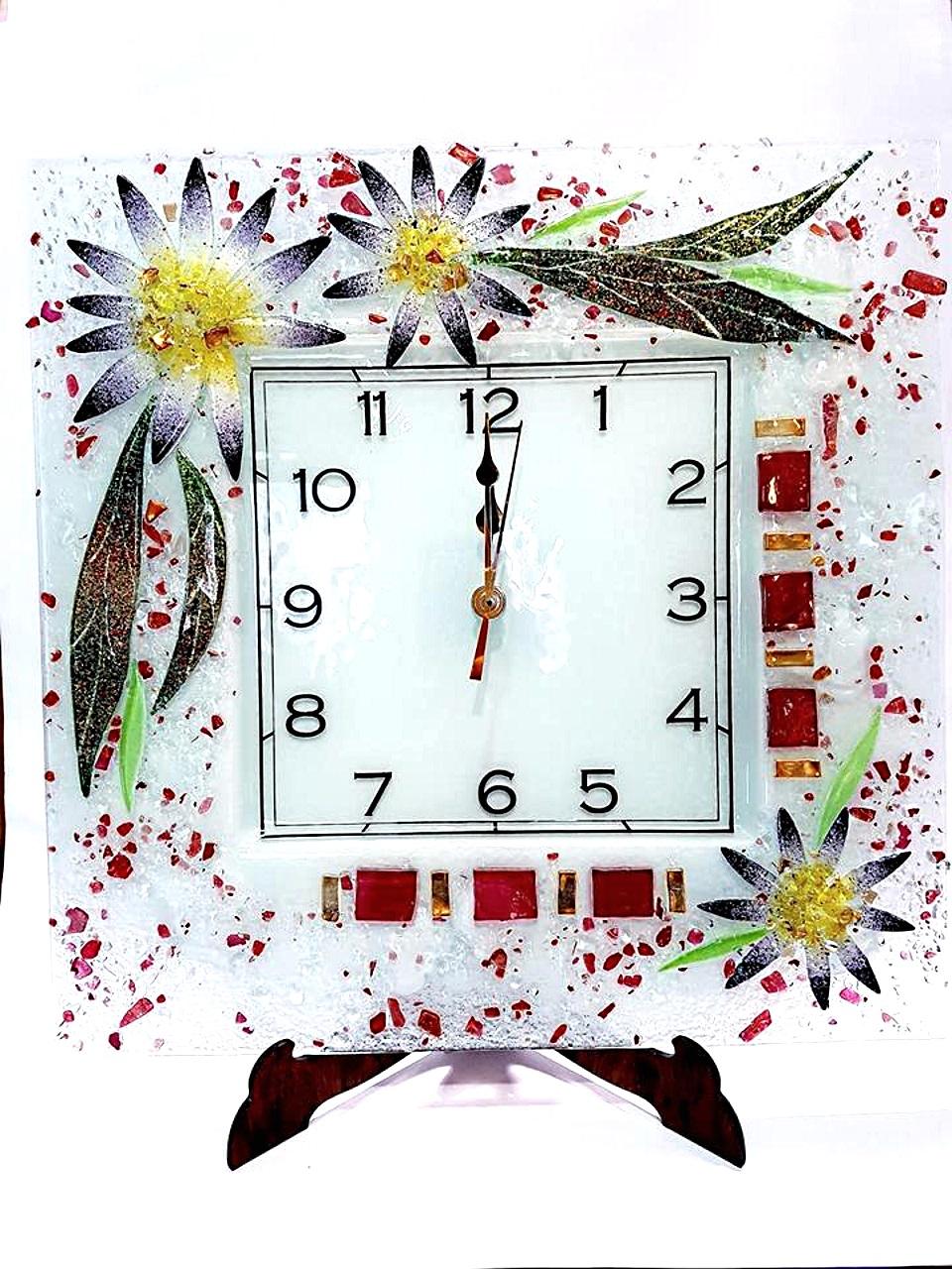Orologio da parete Aster Vetro di Murano