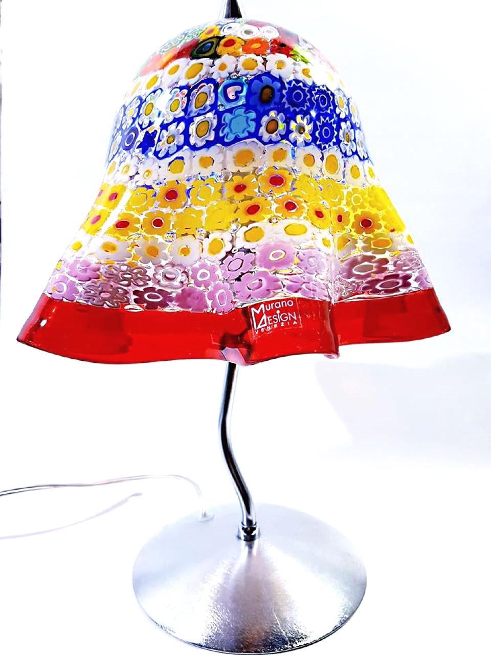 Lampada murrina in vetro di Murano