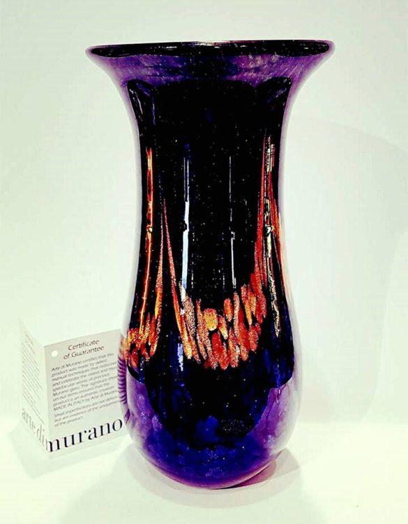 Vaso lungo vetro avventurina