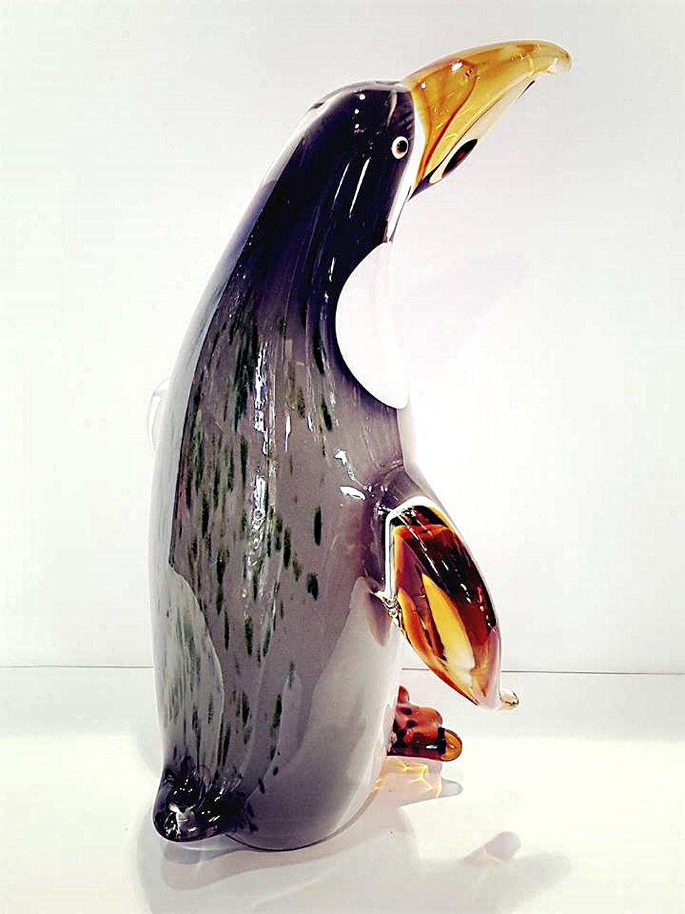Pinguino grande vetro murano