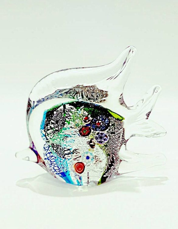 Pesce acqua marina vetro con murrine