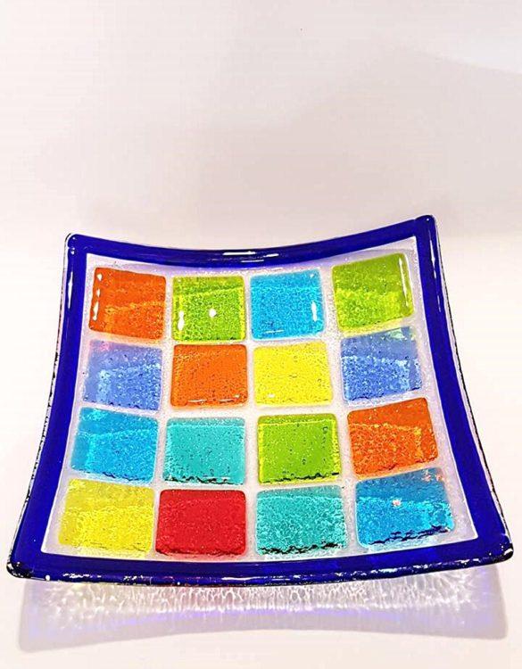 Piattino vetro murano multicolore
