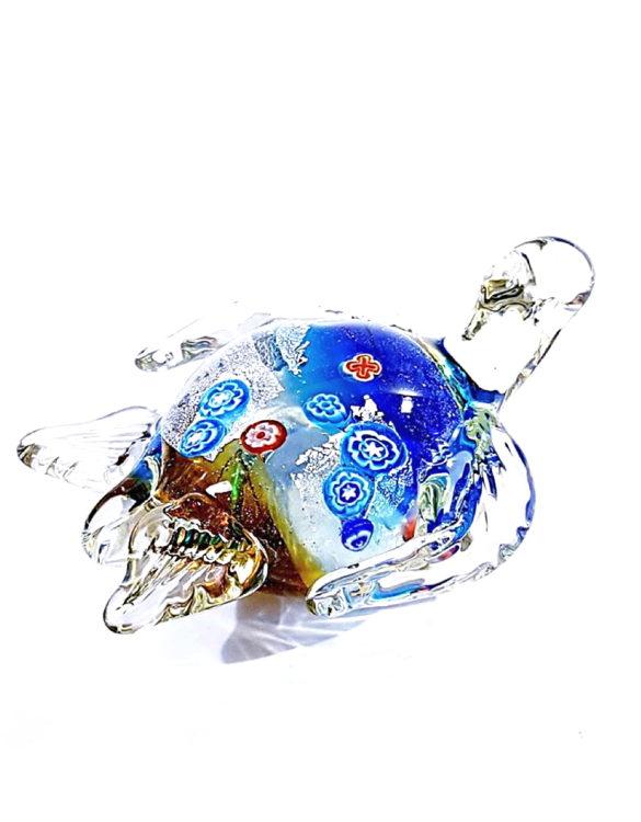 Tartaruga in vetro per arredamento interni
