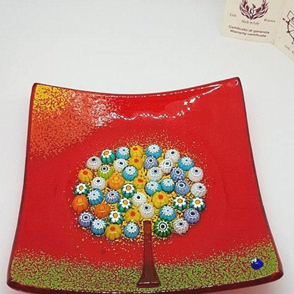 Piattino albero della vita con murrine