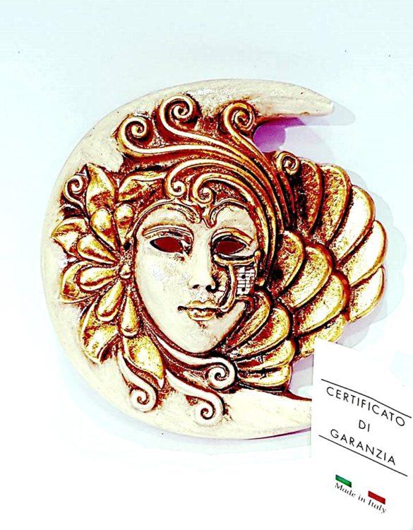 Maschera veneziana luna ceramica