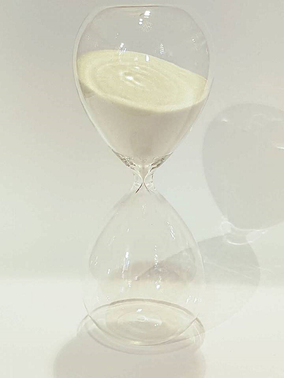 Clessidra bianca cm 17