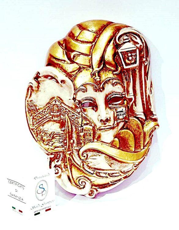 Maschera veneziana venezia ceramica