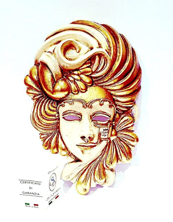 Maschera veneziana belle èpoque ceramica