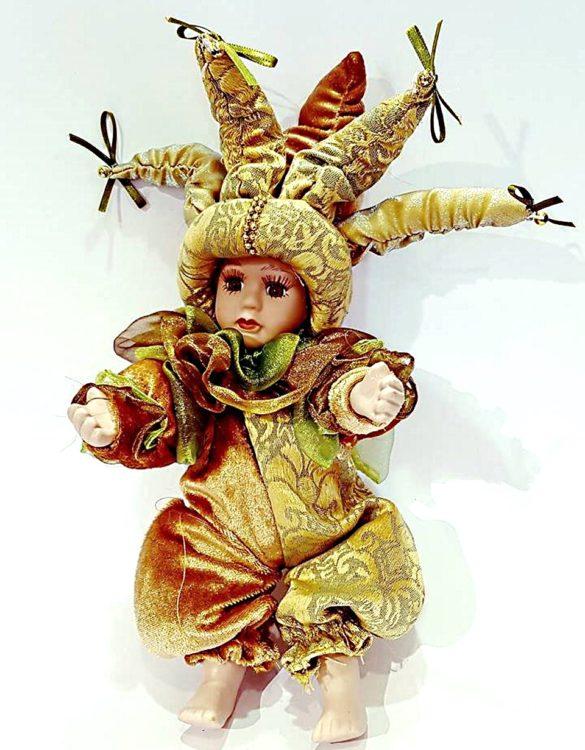 Bambola veneziana jolly ceramica