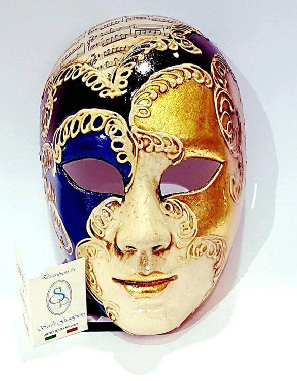 Maschera veneziana volto cartapesta