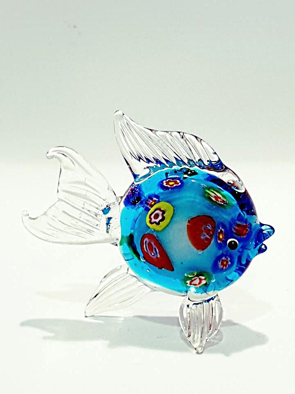 Animale Pesce Piatto Vetro A Lume Venturini Souvenirs Vetro Di
