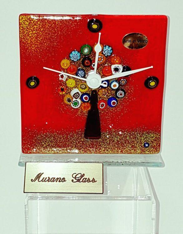 Orologio da tavolo con l'albero della vita con la murrina