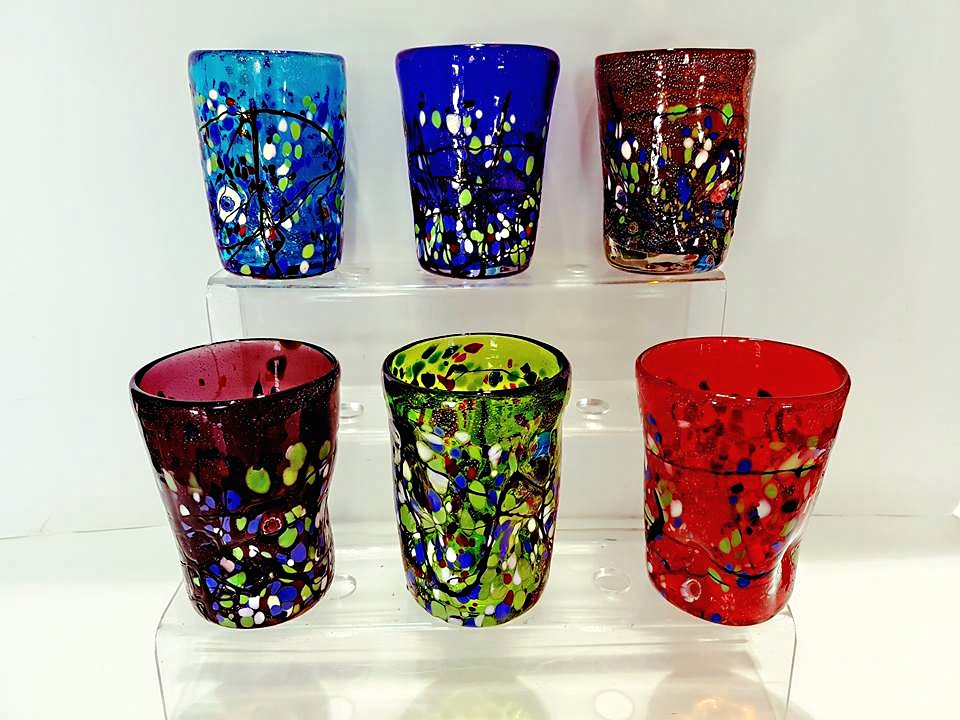 Bicchieri confezioni da 6 pezzi vetro veneziano