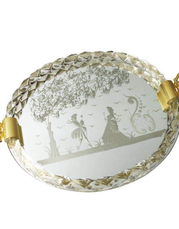 Vassoio vetro di murano ovale