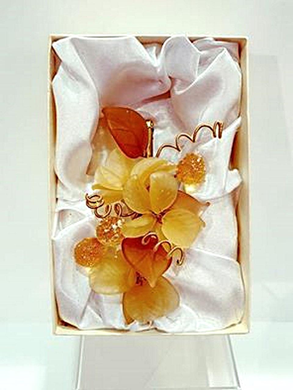 Fiore vetro di murano a lume azalea