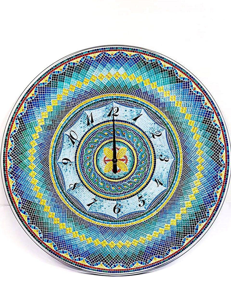 Orologio da parete vetro serigrafato mosaico
