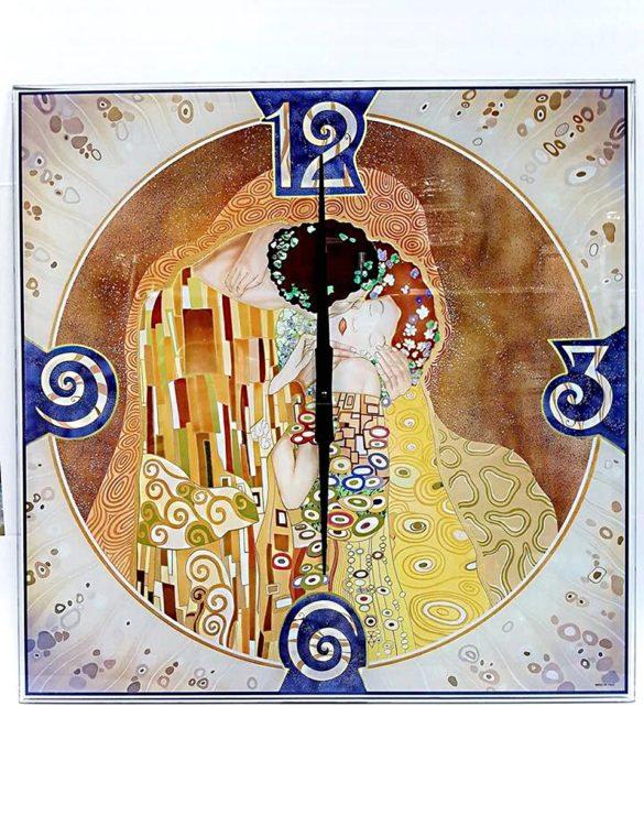 Orologio da parete vetro serigrafato bacio Picasso