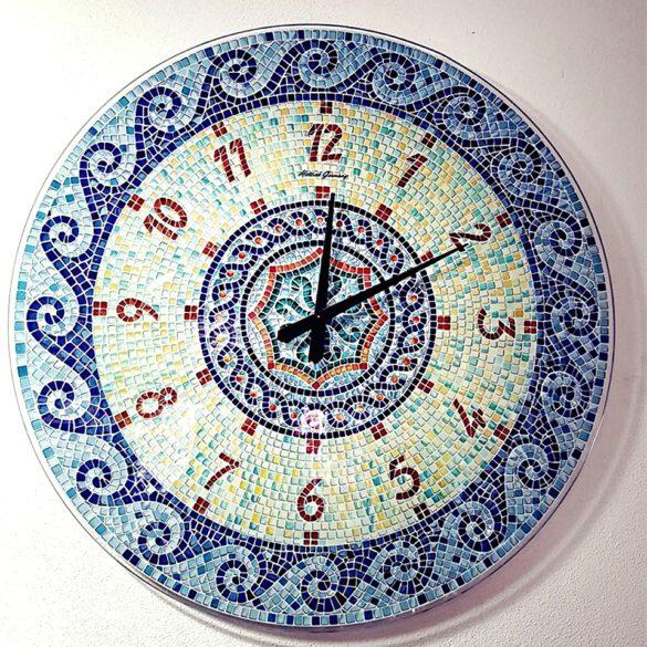 Orologio vetro serigrafato mosaico