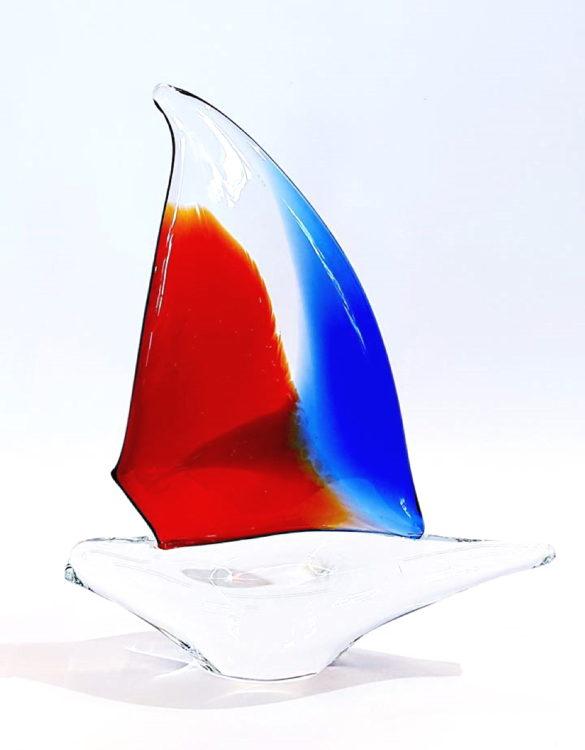 Barca vetro per arredamento