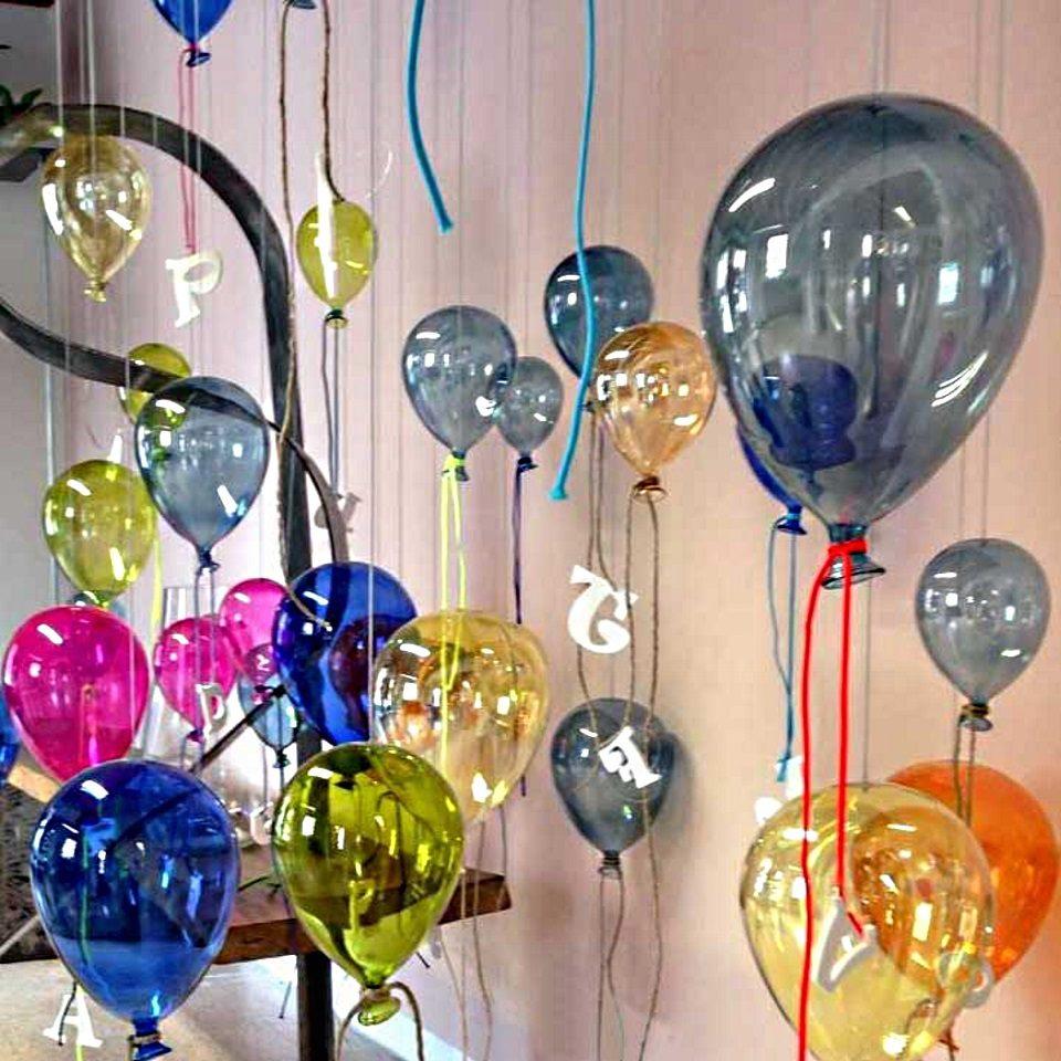 Palloncini vetro confezione da 12 pezzi cm 15 x 10