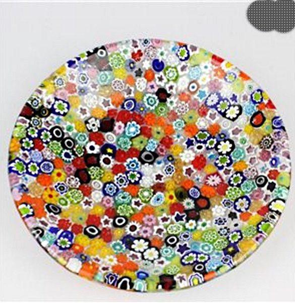 Piattino rotondo murrina multicolore