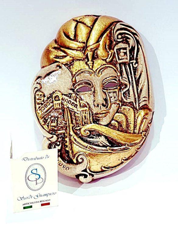 Maschera veneziana venezia piccola ceramica