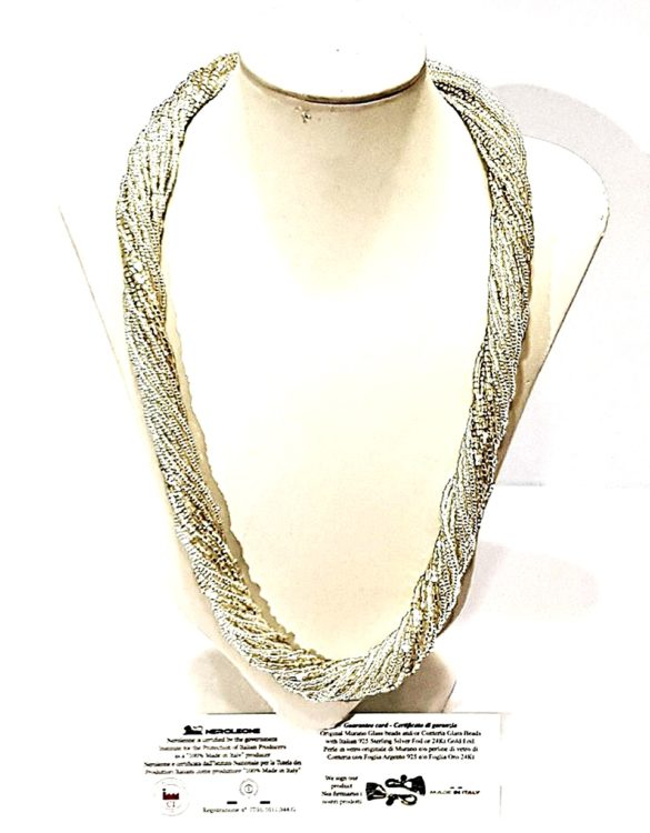 Collana perle conteria veneziana 24 fili