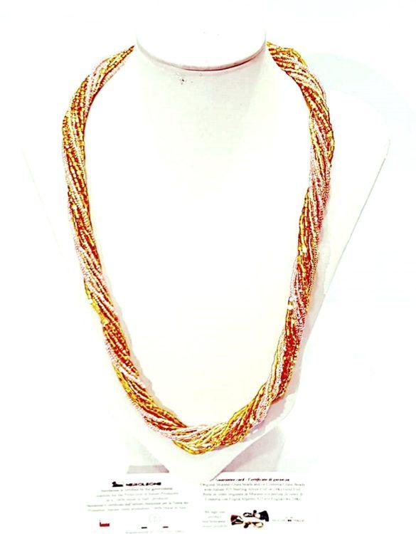 Collana perle conteria veneziana 12 fili