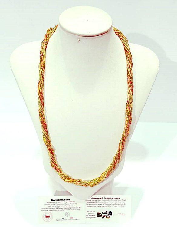 Collana perle conteria veneziana 6 fili