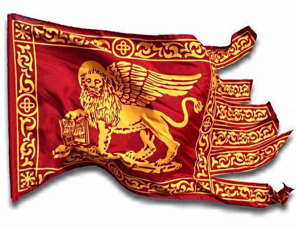 Bandiera Galeone San Marco tagliata