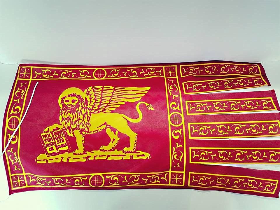 Bandiera Galeone San Marco grande in tessuto acetato