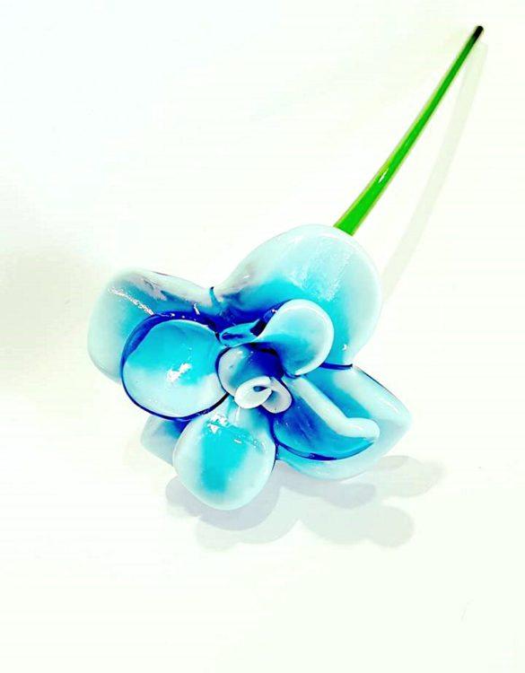 Fiore celeste di vetro veneziano