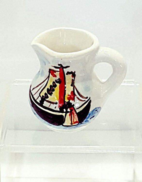 Brocche di ceramica dipinte a mano 6 x 5 cm