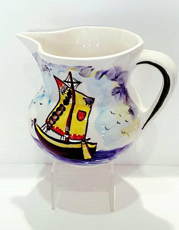 Brocche di ceramica dipinte a mano 20 x 13 cm