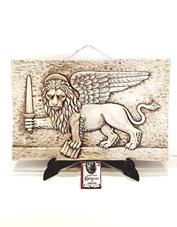 Leone con spada ceramica made in Veneto